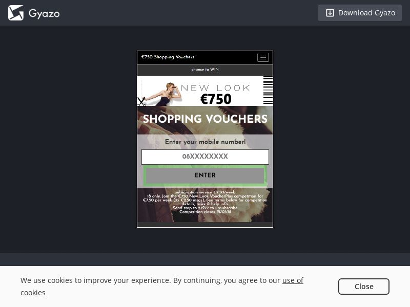 VoucherPlus New Look WEB/WAP IE | MO Flow Mobile Subscription Incent Permitted