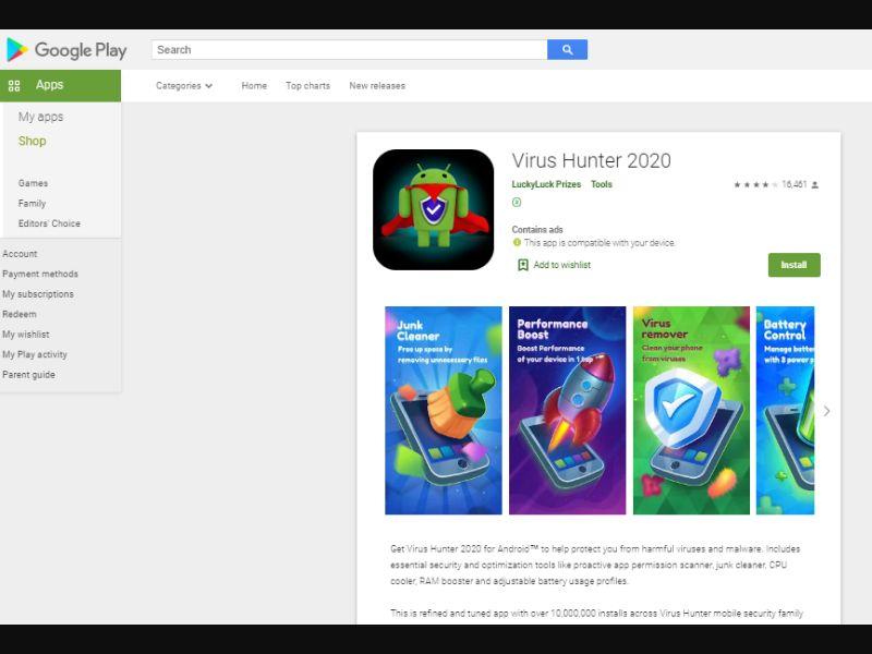 Virus Hunter 2020 [BJ,MW,SY,AO,HN] - CPI
