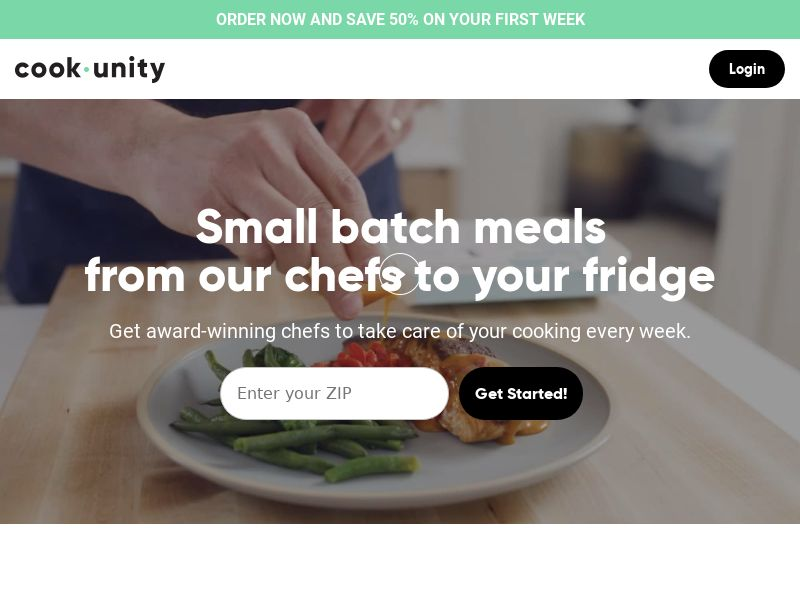 Cook Unity - Your Private Chef - CPA   US