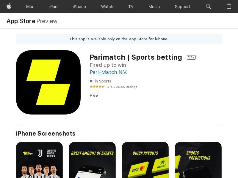 Parimatch - RU - iOS - HARD KPI #1