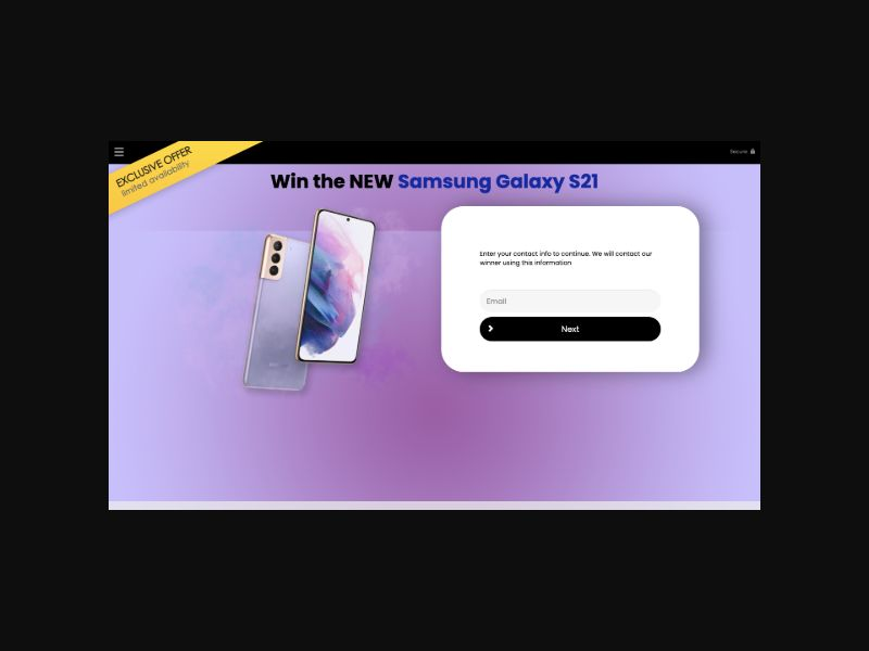 YOUSWEEPS - Win a Samsung Galaxy S21 (US)