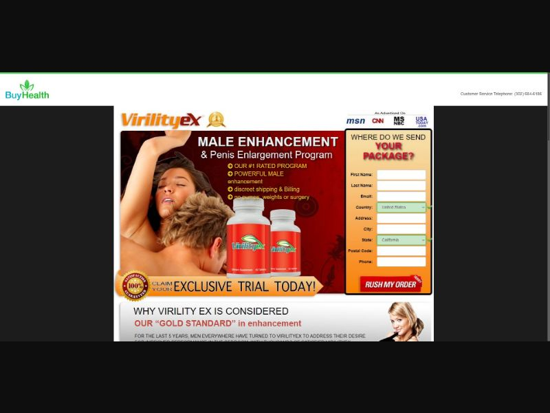 Virility Ex - V2 - Male Enhancement - SS - [133 GEOs]