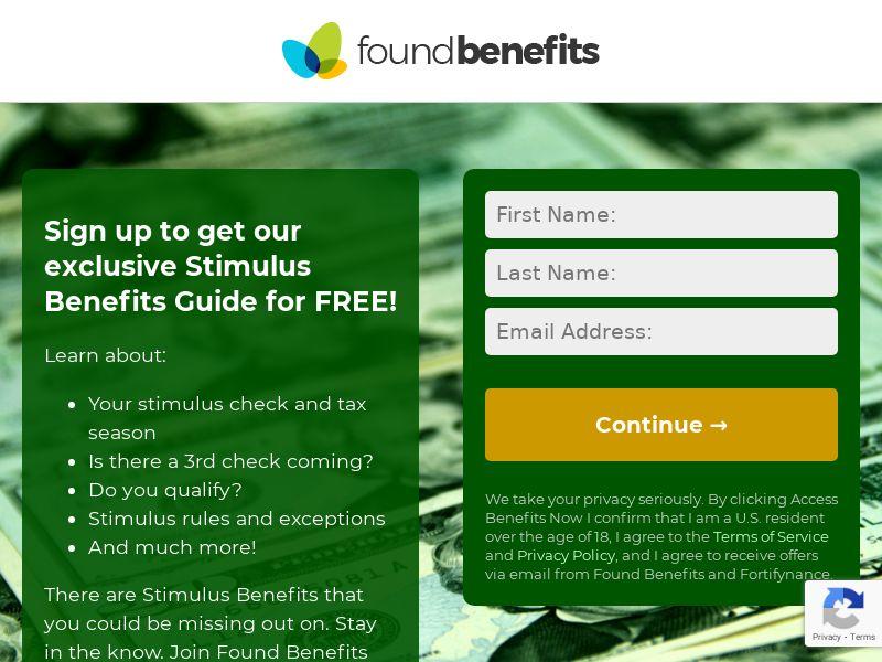 Found Benefits - Stimulus - CPA | US