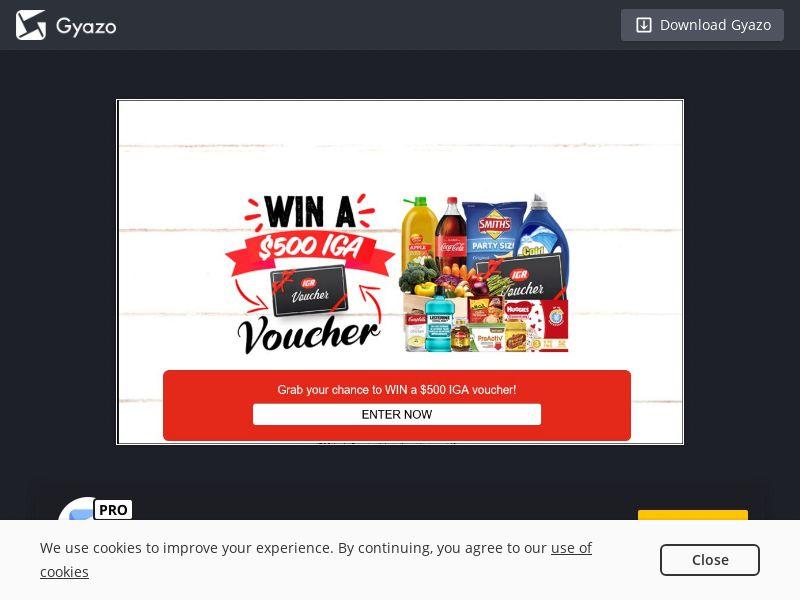 Win a $500 IGA Voucher (AU) (CPL)