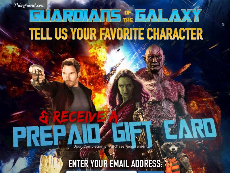 Guardians of The Galaxy - Email Submit