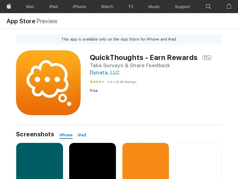 QuickThoughts (iPhone) [UK]