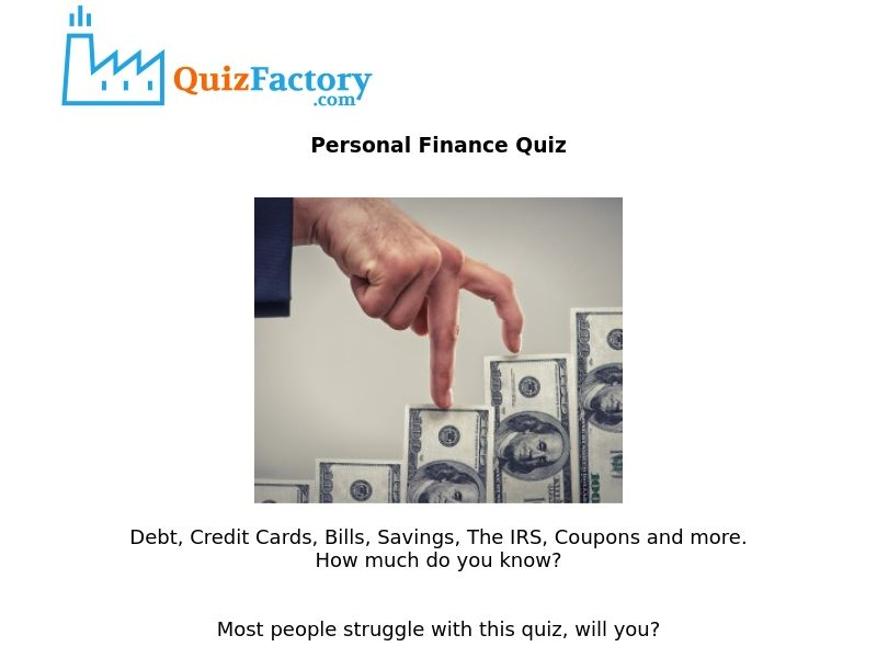 Offers Personal Finance Quiz [Mobile] - US