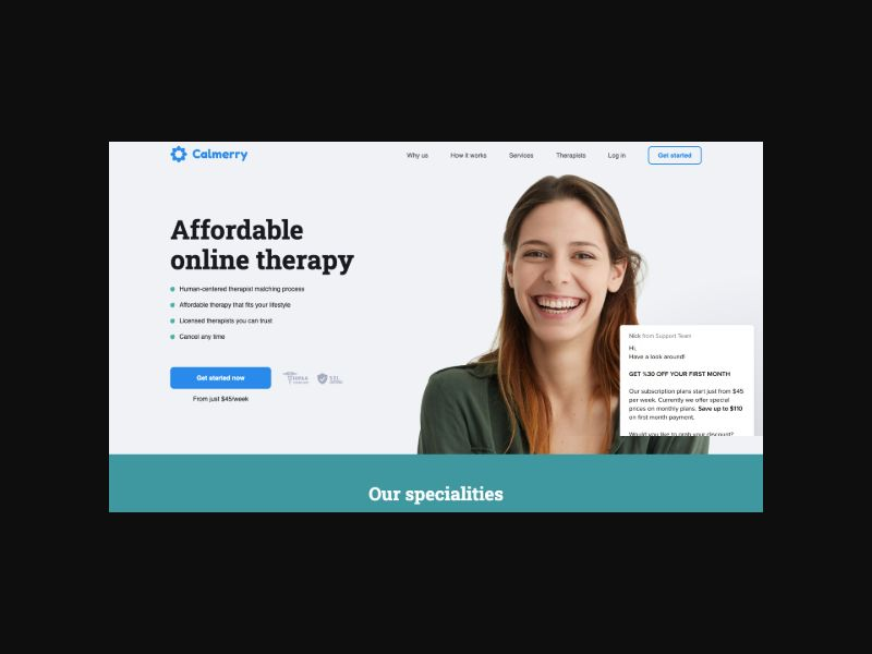 Calmerry | Online Therapy (US) CPS