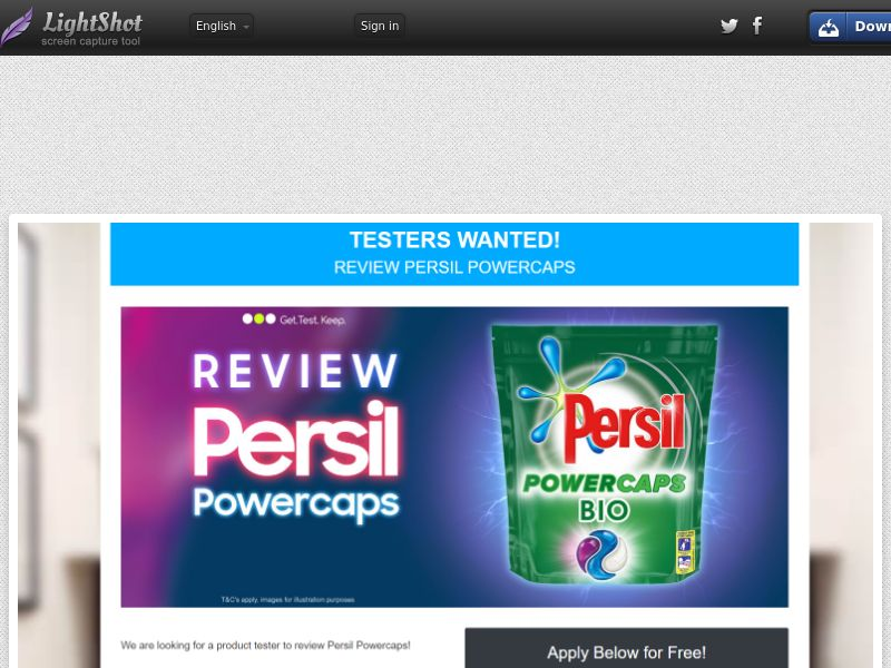 OfferX - Persil Tester (UK) (CPL) (Personal Approval)