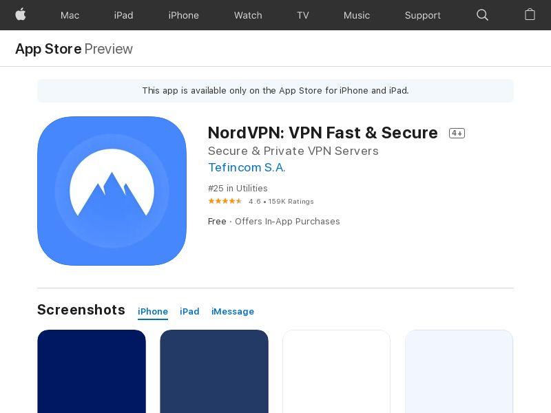 NordVPN on the App Store