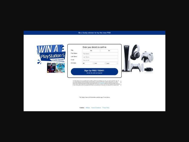 Win a PS5 - AU