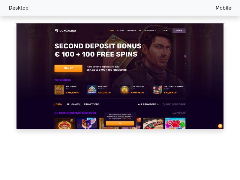 DUX casino-CPA [DE, AT, CH, NL]