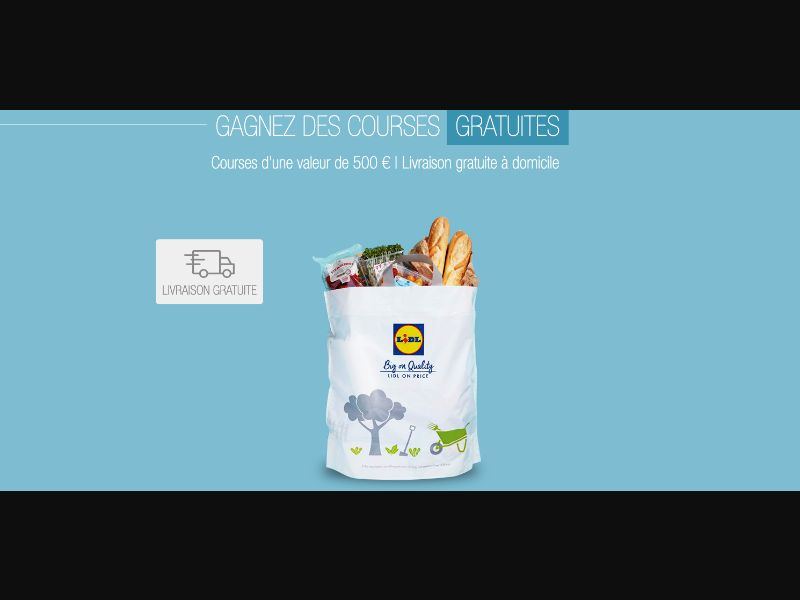Lidl - CPL SOI - FR - Sweepstakes - Responsive