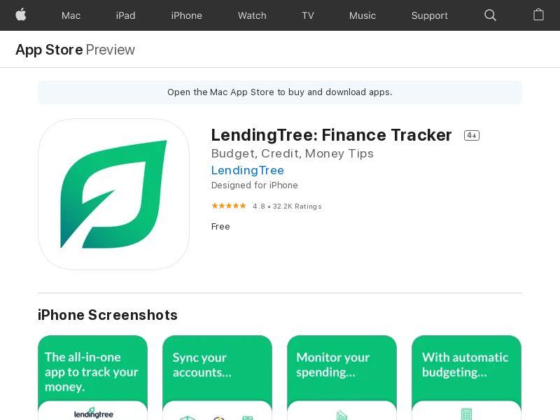 LendingTree: Finance Tracker iOS CPE
