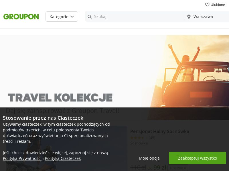 Groupon - Travel (PL), [CPS], Transport and Travel, Accommodation, Tours, Transport, Sell, holiday