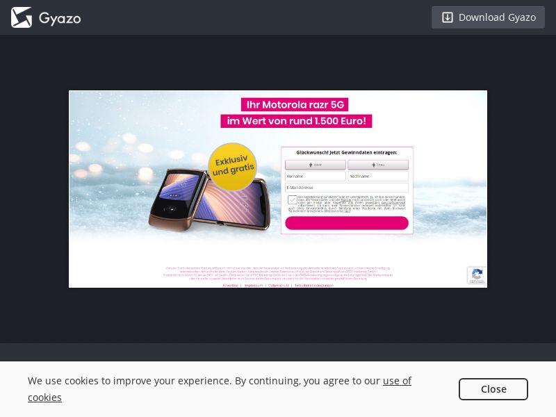 CEOO - Motorola Razr G DE SOI (WEB) Non Incent
