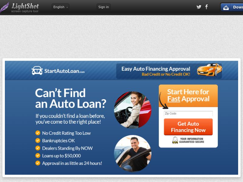 Start Auto Loan (US) (CPL) (Personal Approval)