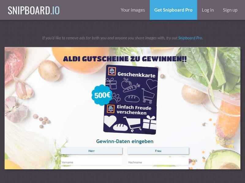 37226 - DE - PrizeCompetition - Aldi voucher - SOI 25+