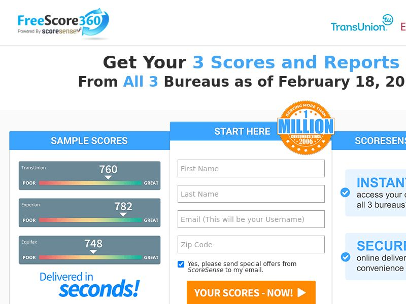 [Mailers Only] Free Score 360 - Free Trial [US]