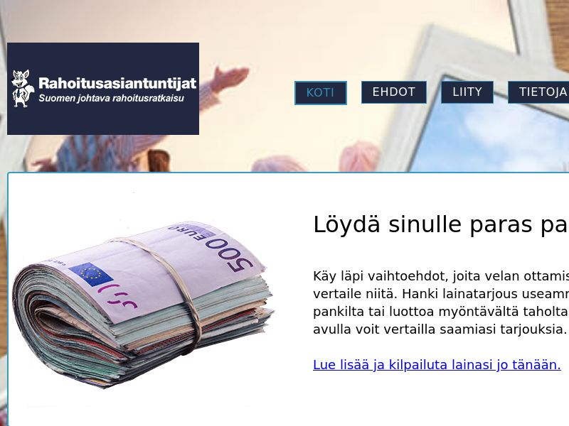 Rahaoitusasiantuntijat - Find a loan [FI] (Email,Banner,Native,Search) - CPL {Email Proof Required}