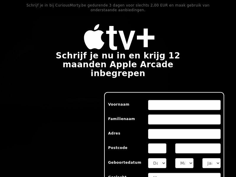 Apple TV+ & Arcade - BE