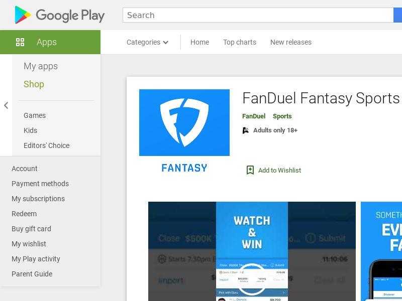 Fanduel - US - Android APP