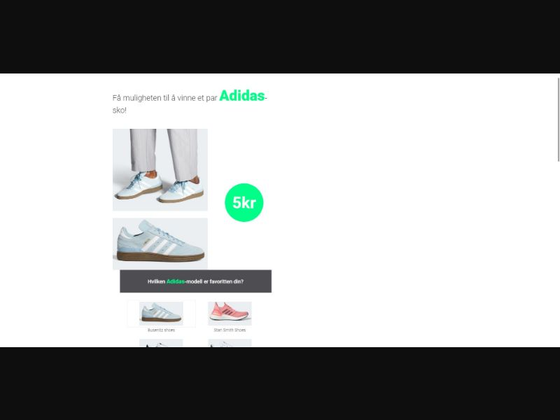 Adidas - Sweepstakes & Surveys - Trial - [NO]