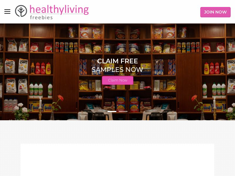 Healthy Living Freebies (US) (CPL) (Personal Approval)