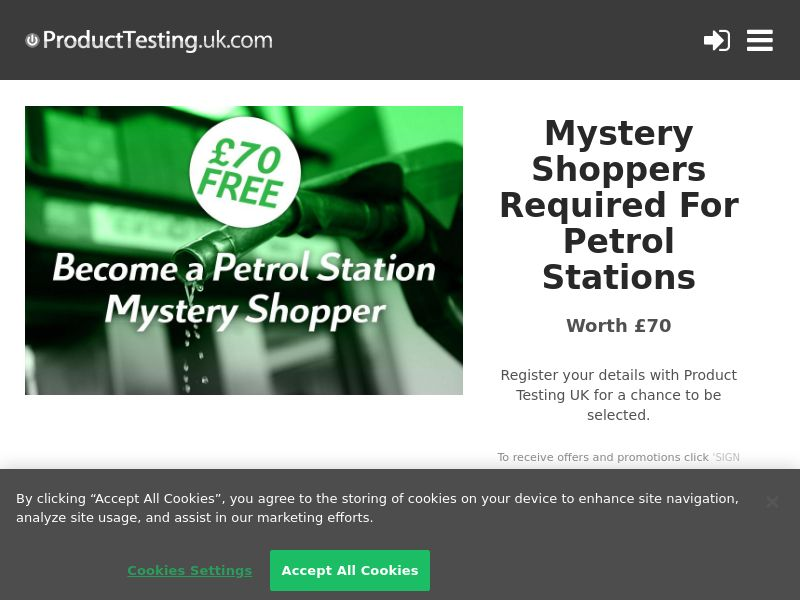 Email Submit - Petrol Stations Mystery Shopper - SOI (UK)