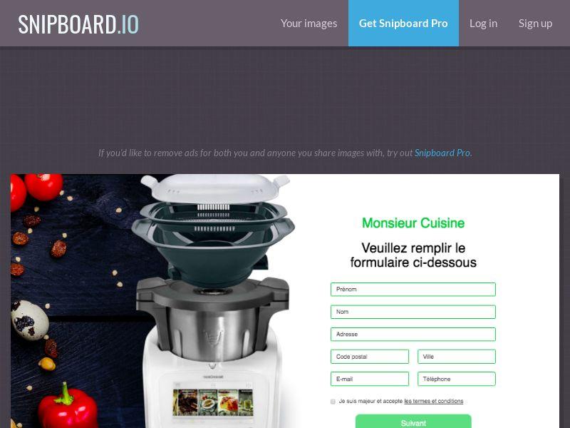 BigEntry - Monsieur Cuisine v1 FR - CC Submit