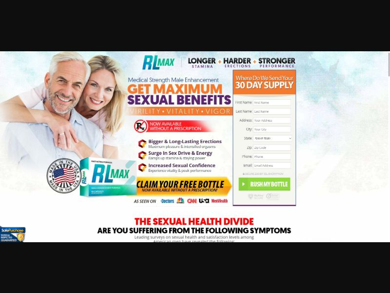 RL Max - Male Enhancement - Trial - [US] - with 1-Click Upsell [Step1 $20.8 / Upsell $20.8]