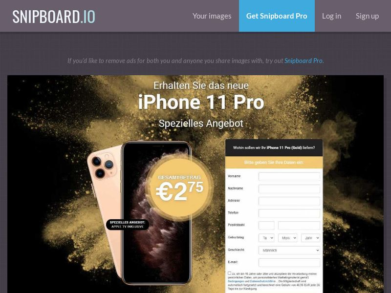 37175 - DE - Lotto24 - iPhone 11 Pro (Gold)- CC submit