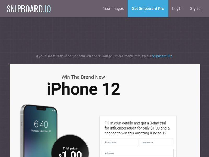 2768 Win iPhone 12 ССSubmit US AU CA 20$