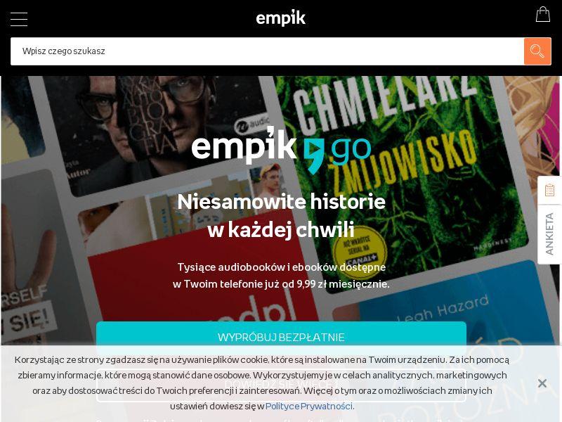 Empik Go (PL), [CPA], Books, Ebooks, Entertainment, Music, Credit Card Submit, shop, spotify, shop