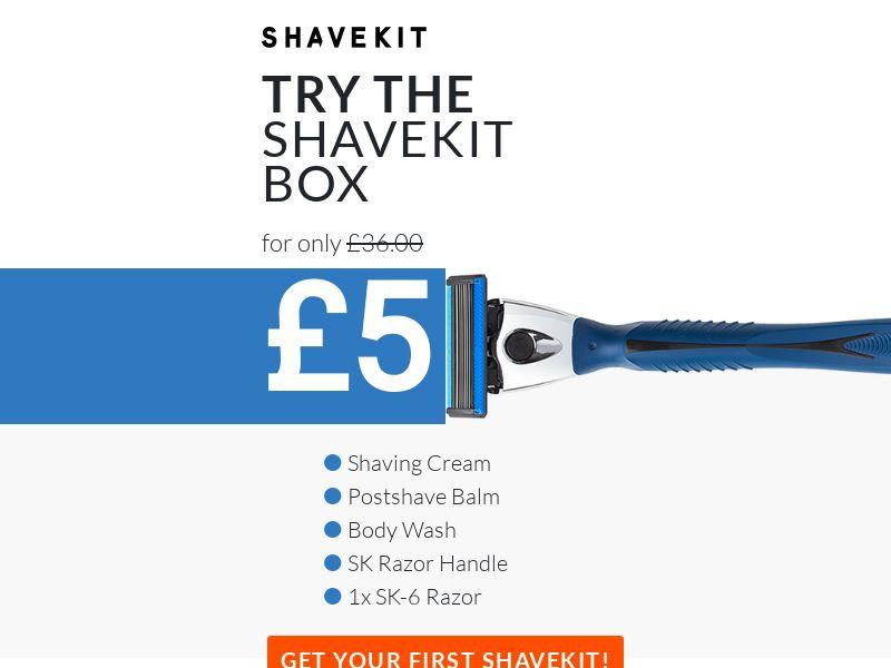 Shavekit - Get 80% Off Your Shavekit Starter Box [UK]