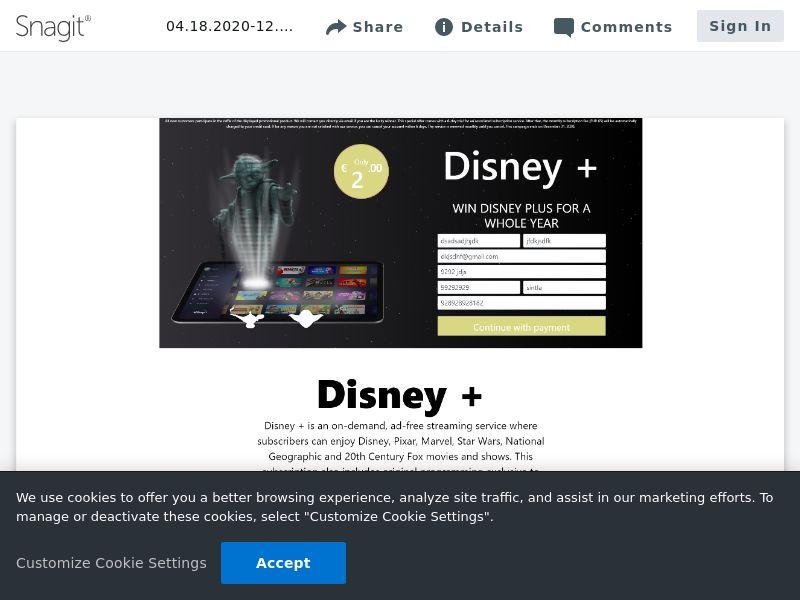 Win Disney Plus | BE