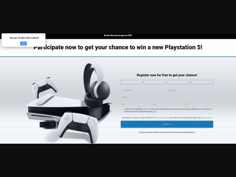 UK - Win PS5 [GB] - SOI registration