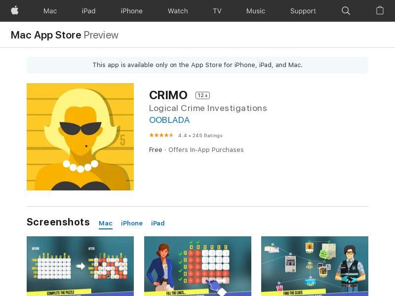 CRIMO - iOS CPE - FR