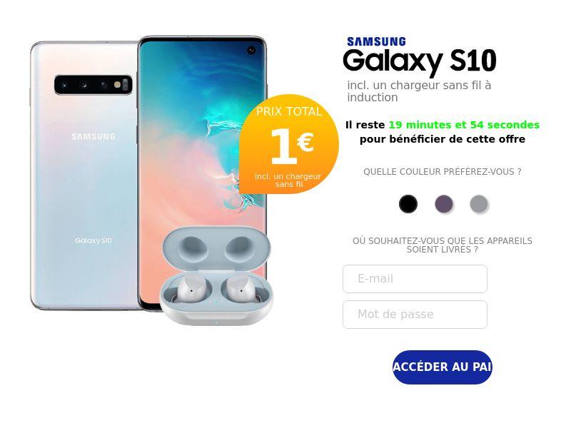 11757) [WEB+WAP] Samsung s10 - FR - CPA cc submit