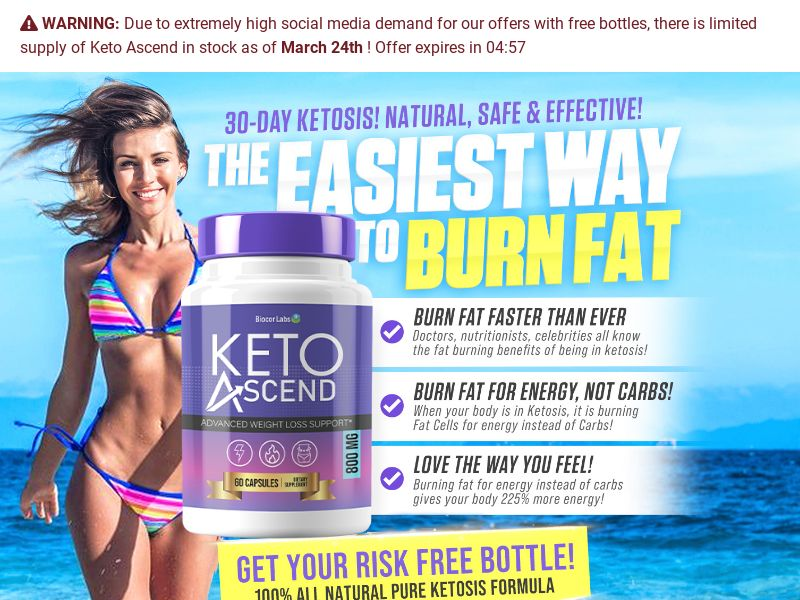Diet -Keto Ascend w/Upsell -US - {Social,FB,Native Ads Traffic Only }