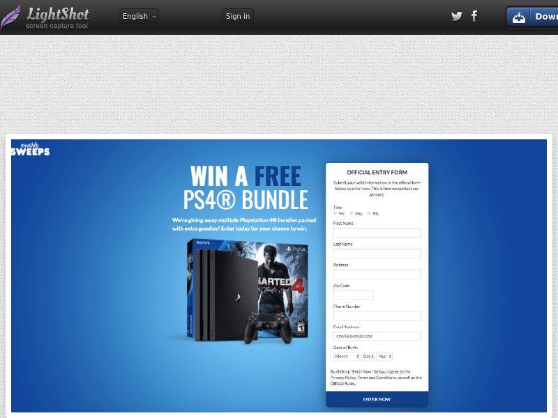 MonthlySweeps - PS4 Bundle