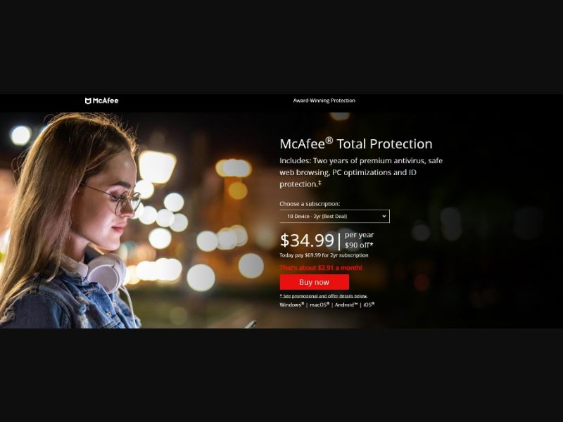 McAfee Total Protection (US) (CPS) (Personal Approval)