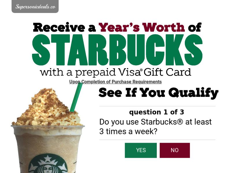SuperSonicDeals Starbucks Gift Card - Email Submit - Incent