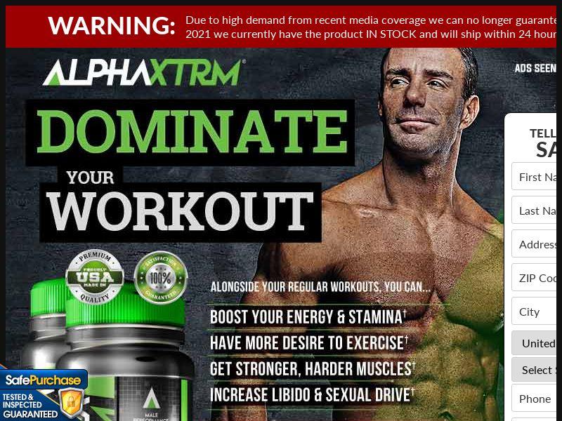 US - Alpha XTRM Muscle - Trial - CPA - *WEB/WAP* + upsell