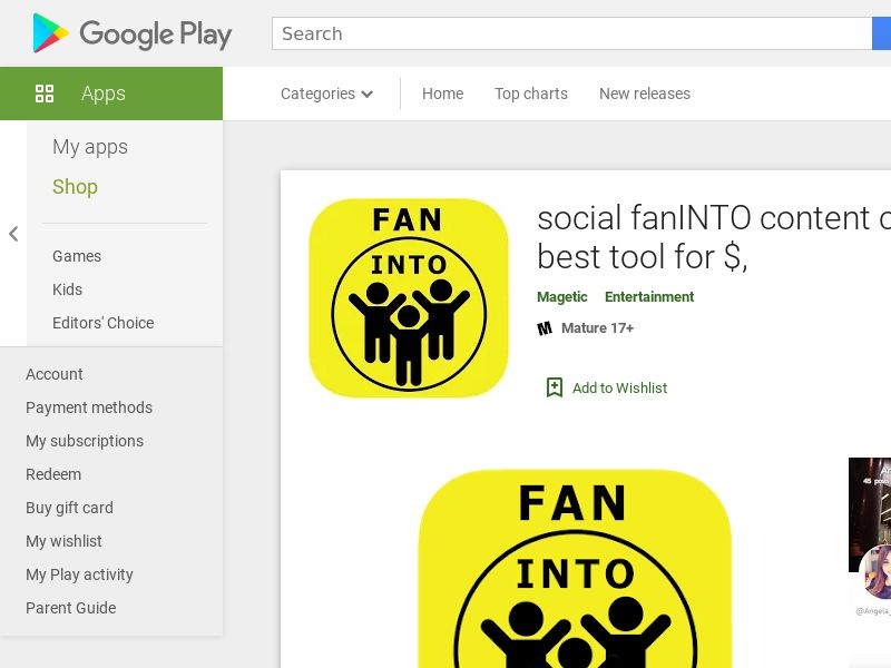 Social fanINTO - Android (CY) (CPI) (GAID) (App Name) (Incent)