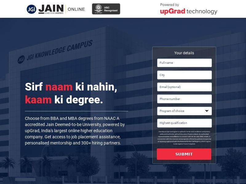 Upgrad.com Jain University CPL - India