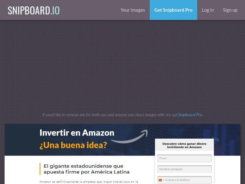 41315 - MX - CO - CL - PE - Invertir en Amazon V2 - (MX) (PE) (CO) (CL) - [CPA]