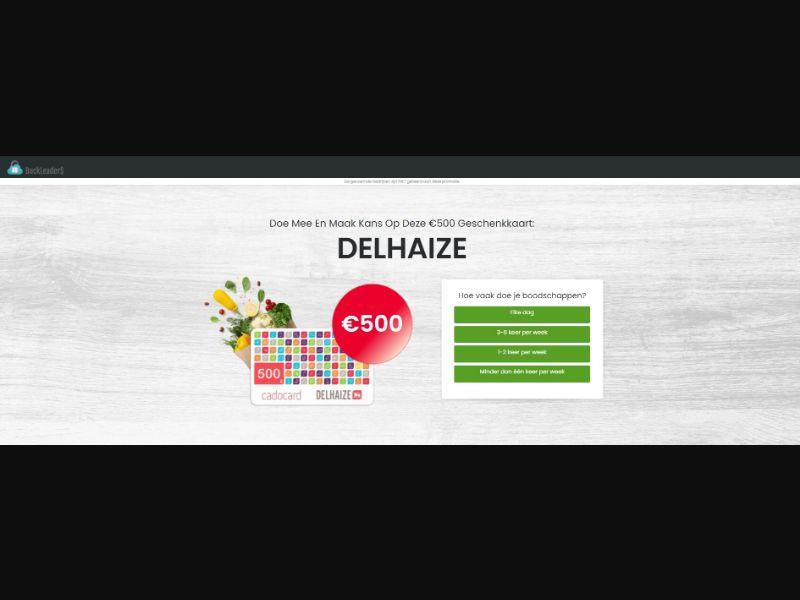 BE - Win Delhaize Gift Card [BE] - SOI registration