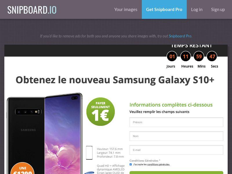 SteadyBusiness - Samsung Galaxy S10+ LP34 FR - CC Submit