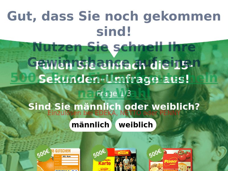 9839) [WEB+WAP] Supermarket vouchers - ALL BRANDS - DE - CPL